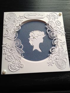Leaving Card using Spellbinders Grand Decorative Ovals, Floral . Leaving Cards, Tattered Lace Cards, Anna Griffin Cards, Beautiful Handmade Cards, 3d Cards, Marianne Design, Mothers Day Cards, Flower Cards, Aliexpress