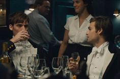 The Riot Club Drinking: The gang have to earn buttons on their sleeves