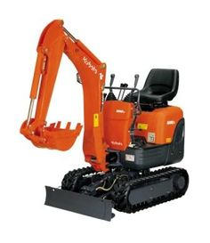 The Kubota mini-ex - the neighbors love this, we don't need to take down their fence!