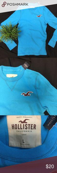 NWT Hollister Long sleeve men T-shirt L NWT warm long sleeve T from Hollister. Beautiful blue color. Hollister Shirts Tees - Long Sleeve