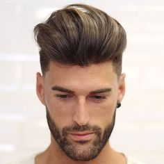Mid Skin Fade + Quiff + Grey Hair