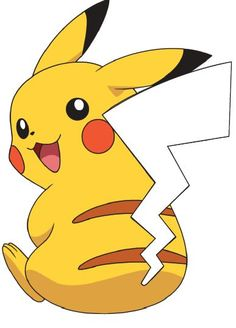 Pin the tail on Pikachu game. See my other pin for the tails.