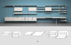 Dieter Rams, 606 Universal Shelving System. 1960