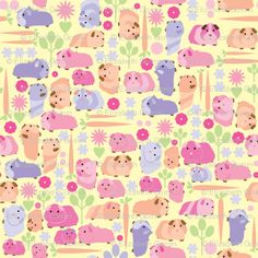 Pastel Guinea Pig Vegetable Patch