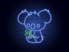 Half way there, day 15 of Inktober. I decided to merge the original prompt list (light) with the prompt list from d'Anthes (koala). So this is what I came up with, a koala neon sign. Hope y. Neon Wall Signs, Neon Signs Quotes, Neon Light Signs, Led Neon Signs, Neon Light Art, Neon Light Wallpaper, Wallpaper Iphone Neon, Pop Art Wallpaper, Blue Aesthetic Dark