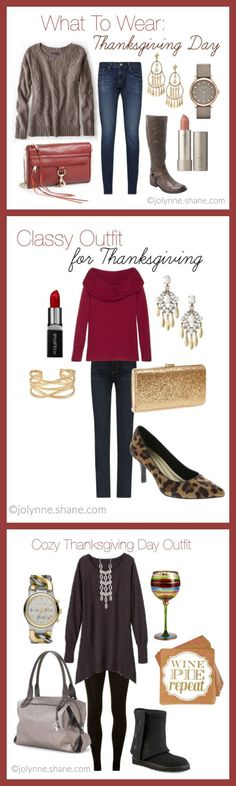 On Thanksgiving, dressing for comfort is a high priority, but of course I want to look festive and cute. Here are 3 outfit ideas - casual, cozy and glam! No matter the style of your holiday gathering, I've gotcha covered with what to wear for Thanksgiving! Click through for outfit details and shopping links!