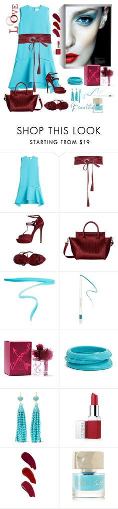 """contemporary colors"" by susans-sg ❤ liked on Polyvore featuring Victoria, Victoria Beckham, Elie Saab, Harveys, By Terry, Givenchy, Vera Wang, ZENZii, Kenneth Jay Lane, Clinique and Ellis Faas"
