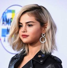 Selena Gomez Blonde Bob Hair