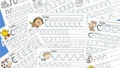 Grafomotricidad para Educación Infantil - Web del maestro Word Search, Notebook, Diagram, Bullet Journal, Words, Psp, Activities, Activities For 3 Year Olds, Fun Activities