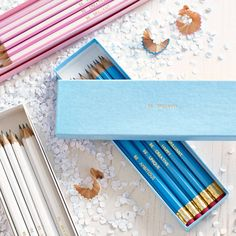 personalised gift boxed pencils by the letteroom | notonthehighstreet.com