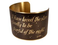 Galileo Quote Brass Quote Bracelet Moon Jewelry by accessoreads.