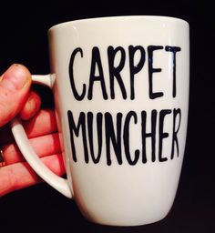 A personal favorite from my Etsy shop https://www.etsy.com/listing/263749784/carpet-muncher-funny-gay-pride-coffee