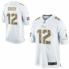 Nike Tom Brady New England Patriots Salute to Service Game Jersey - White   SalutetoService Green f3bb799f0