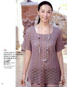 Crochet Wonders: Tunics of Crochê_Japonês