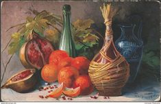 Paintings - Mary Golay - Still Life, 1907 - Ernest Nister Postcard