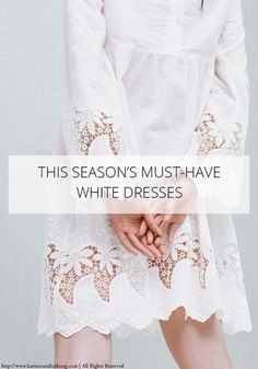 This season's must-have white dresses Must Haves, Lace Shorts, White Dress, Lifestyle, Interior, Tops, Dresses, Design, Fashion
