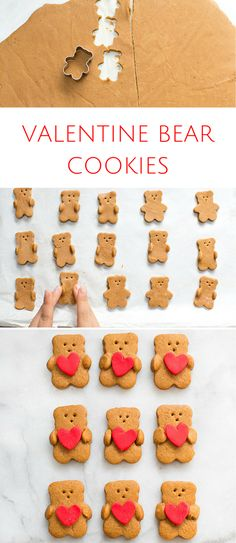 Valentine Bear Holding Heart Cookies. Find out how to make this irresistibly cute Valentine treat!