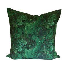 Malachite Decorative Pillow Cover - Emerald Green - CHOOSE YOUR SIZE