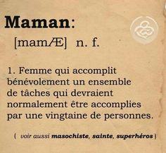 Définition de #maman