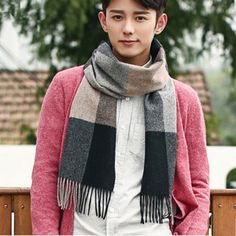 http://www.buyhathats.com/tassels-black-and-brown-plaid-scarf-men-autumn-wool-scarf.html