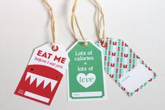 Free printable food gift tags - provided you have a sense of humor.
