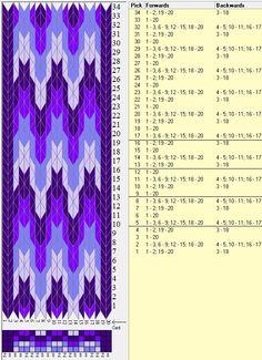 20 tarjetas, 4 colores, repite cada 4 movimientos // sed_421 diseñado en GTT༺❁