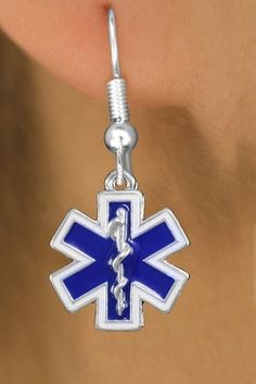 Emergency Stuff - Star of Life Blue Enamel Charm Fish Hook Earrings, $10.95 (https://www.emergencystuff.com/star-of-life-blue-enamel-charm-fish-hook-earrings/)