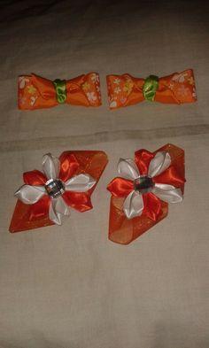Lazos para niñas /baby  #Naranja,  #blanco,  #verde #manzana,  #niñas,  #bebes