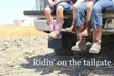 Everyone on the farm did this and didn't think about it. No ties or straps in those days.
