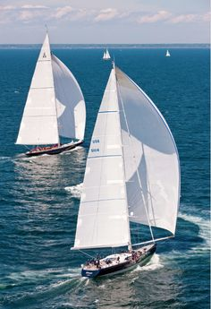 """townandcountrymag:    At the Newport Bucket Regatta ships race to """"win the party."""" This August the yearly event will, for the first time ever, welcome smaller boats alongside the superyachts that the race has traditionally featured. Photo courtesy of Bluegreen Pictures/Alamy in Town & Country August 2012."""