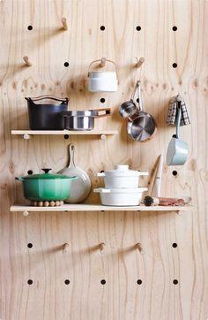 plywood pegwall kitchen - Google-søk