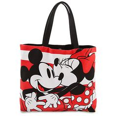 Mickey & Minnie Tote Bag by Loungefly Disney Tote Bags, Disney Handbags, Disney Purse, Purses And Handbags, Mickey Mouse, Disney Mickey, Disney Merchandise, Cute Purses, Backpack Purse