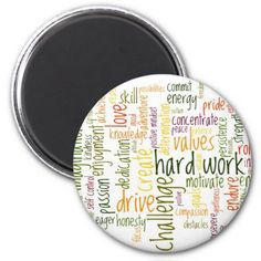 Motivational Words #2 fridge magnet #zazzle HightonRidley