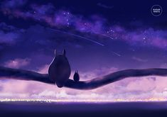 totoro: starry nights. by sugarmints on DeviantArt