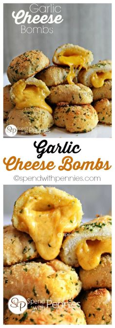 Garlic Cheese Bombs  http://www.spendwithpennies.com/garlic-cheese-bombs/