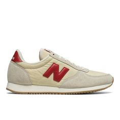 220 New Balance Women's Shoes - Off White/Red (WL220BG)