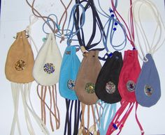 Multicolor Medicine Bags Leather Baby Soft by HandCraftedMinds