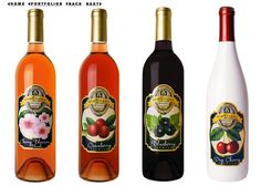 Fruit labels | fruit wine labels of von Stiehl are designed to look like jam labels ...