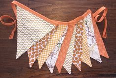 Pumpkin Fabric Bunting Banner, Pumpkin Patch, Party decoration, Pumpkin Birthday Party, Fall Photo Prop by simpledetailsdesign on Etsy https://www.etsy.com/listing/250063533/pumpkin-fabric-bunting-banner-pumpkin