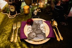 Elegant Halloween Wedding Inspiration | Michelle Lacson Photography | Kristeen LaBrot Events |Reverie Gallery Wedding Blog