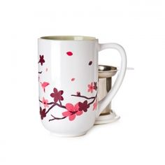 Cherry Blossom Colour Changing Nordic Mug-When you add hot water to this mug, the blossoms turn a lovely shade of soft pink. Davids Tea, Tea Mugs, Deco, Cherry Blossom, Tea Time, Color Change, Coffee, Blossoms, Tableware