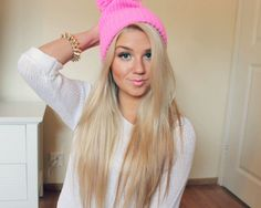 I want long blonde hair.
