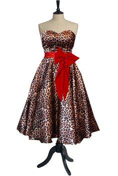 50s Dress in leopard print