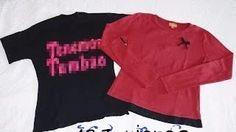 come fare il #refashion di vecchia magliette corte, larghe, fuori moda - 123ricreo - YouTube