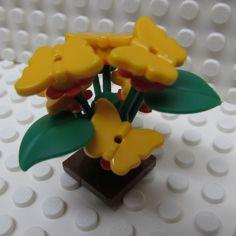 Lego Butterfly Bush in Orange by TheMerryBeader on Etsy