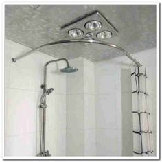 Shower Curtain Rod For Corner Image