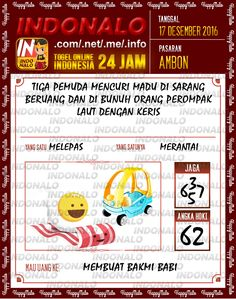 Tafsir Lotre 4D Togel Wap Online Live Draw 4D Indonalo Ambon 17 Desember 2016