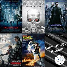Bu haftaki kuşağımızda bilim kurgu filmlerinden seçmeler yapma kararı aldık. Sizlere yine ekrandan kendinizi alamayacağınız öneriler sırayla şöyle; 1. Inception - Başlangıç 2. Terminator 2 3. The Matrix  4. Egde of Tomorrow - Yarının sınırında 5. Back to the Future - Geleceğe Dönüş
