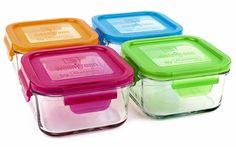 Colourful tupperware - love it!