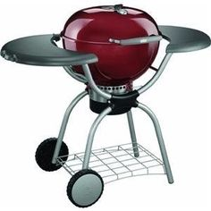 Weber 1-Touch Charcoal Grill (Red)   Charcoal Grills   Bar-be-cue